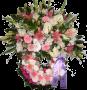Coroa de Flores Piqué 90CM